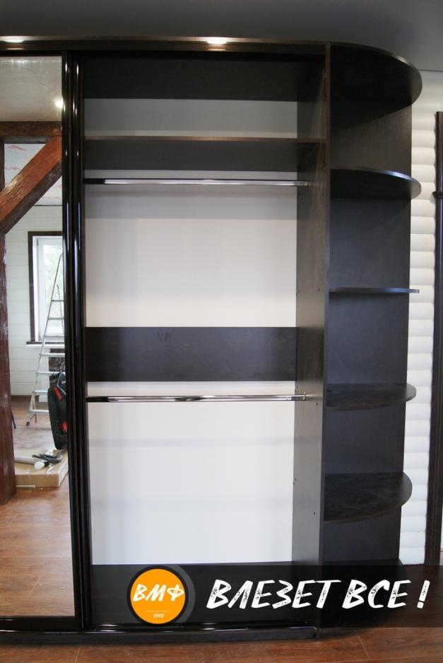 Шкаф купе — венге темный