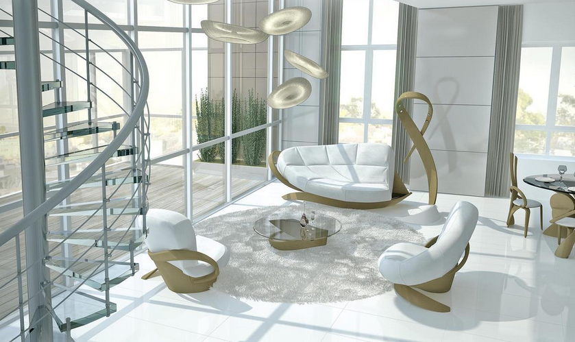 гнутая мебель актуальный дизайн