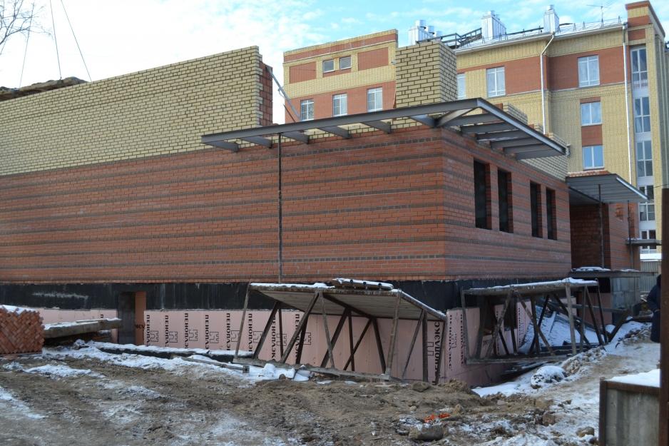 Ход строительства дома на Некрасова, декабрь