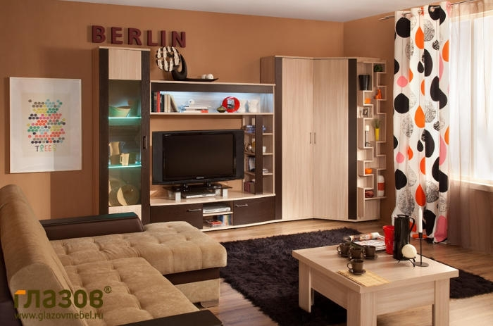 Модульная гостиная BERLIN 2 (Венге)