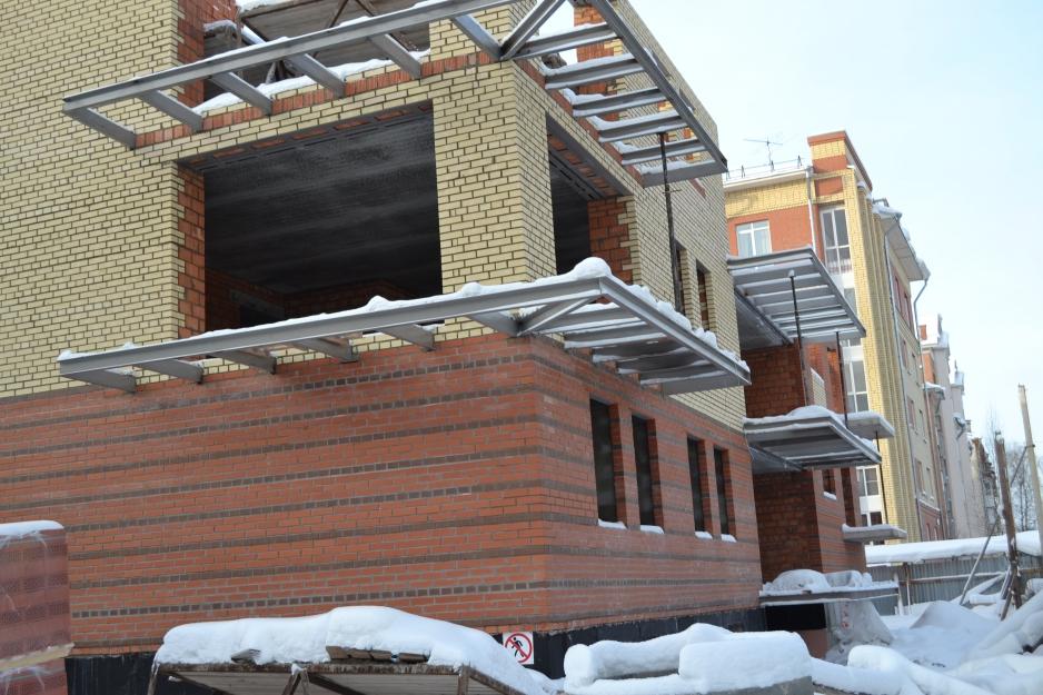 Ход строительства дома на Некрасова, январь