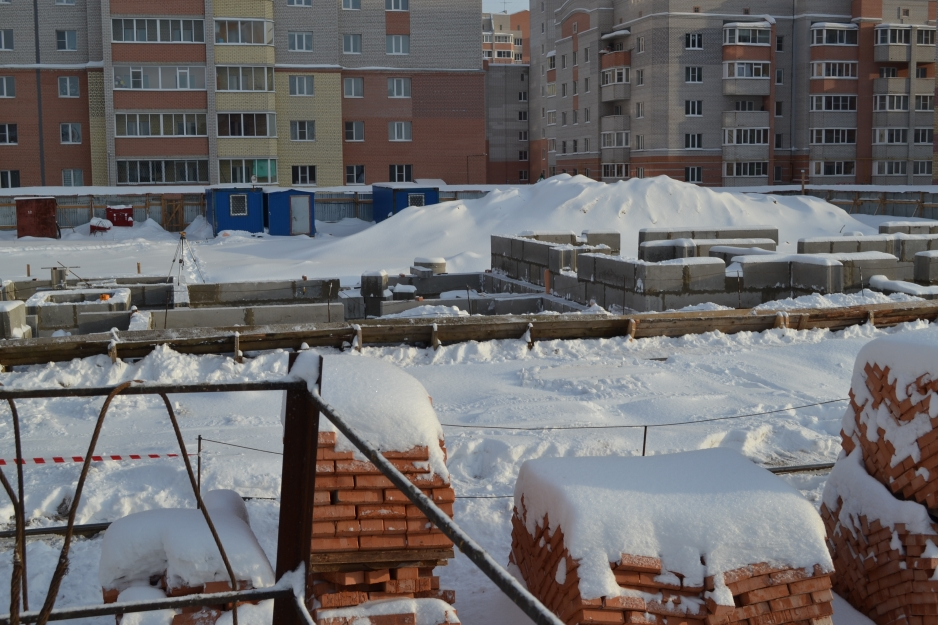 Ход строительства здания на Фрязиновской