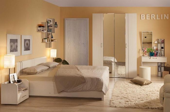 Модульная мебель в спальню BERLIN (Бодега Светлый)