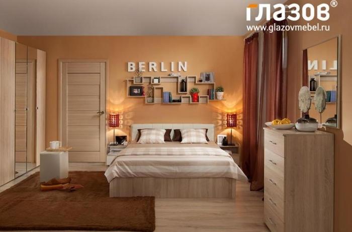 Модульная мебель в спальню BERLIN (Дуб Сонома)