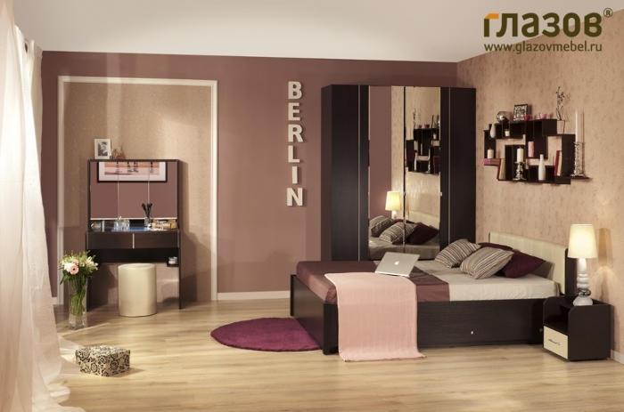 Модульная мебель в спальню BERLIN (Венге)