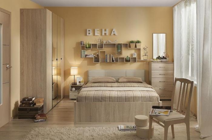 Модульная мебель в спальню Вена