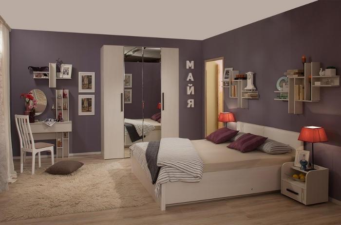 Модульная мебель в спальню Майя