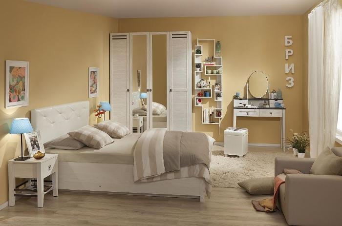 Модульная мебель в спальню Бриз