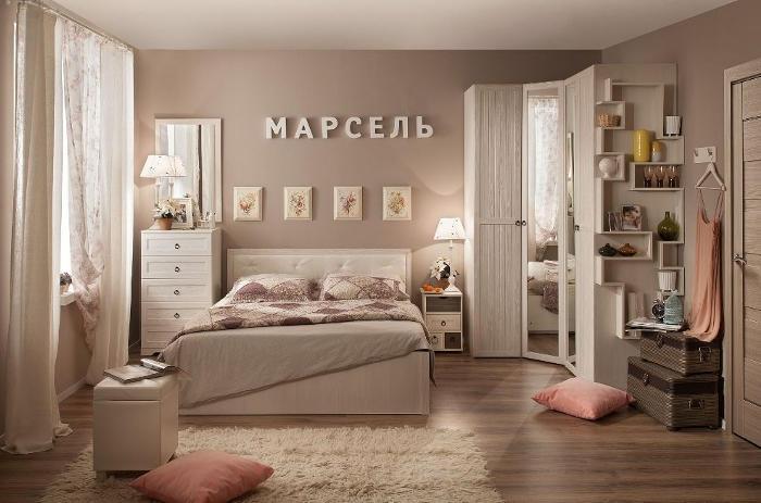 Модульная мебель в спальню Марсель