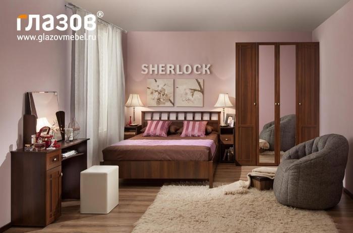 Модульная мебель в спальню SHERLOCK (Орех шоколадный, Ясень Анкор темн.)
