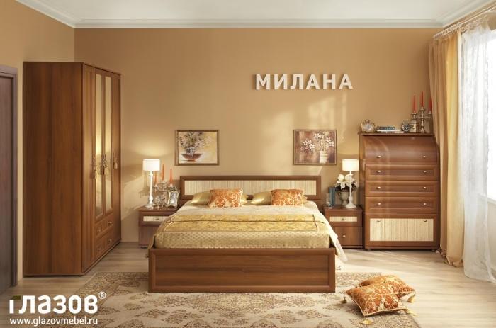 Модульная мебель в спальню Милана