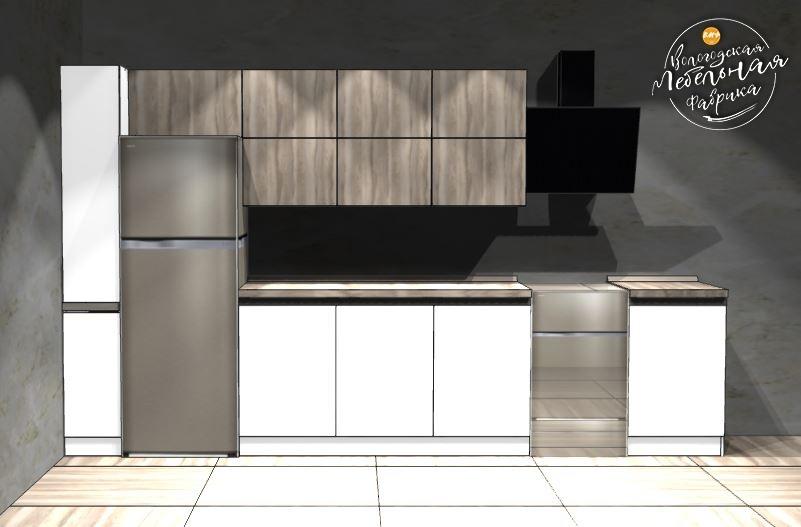 Кухня модель «Spark» синтегрированными ручками