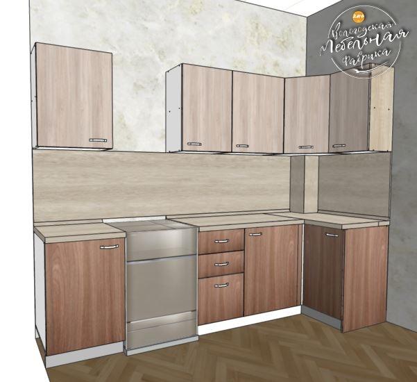 Маленькая кухня по индивидуальному дизайн проекту