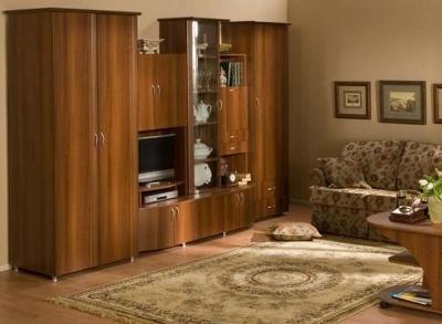 Модульная мебель в гостиную Элегия (Орех)