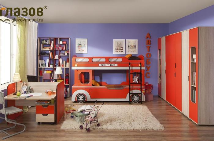 Модульная мебель в детскую Автобус