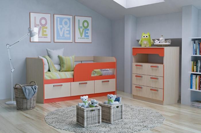 Модульная мебель в детскую Рико