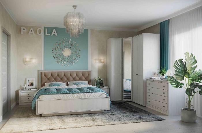 Модульная мебель в спальню PAOLA патина