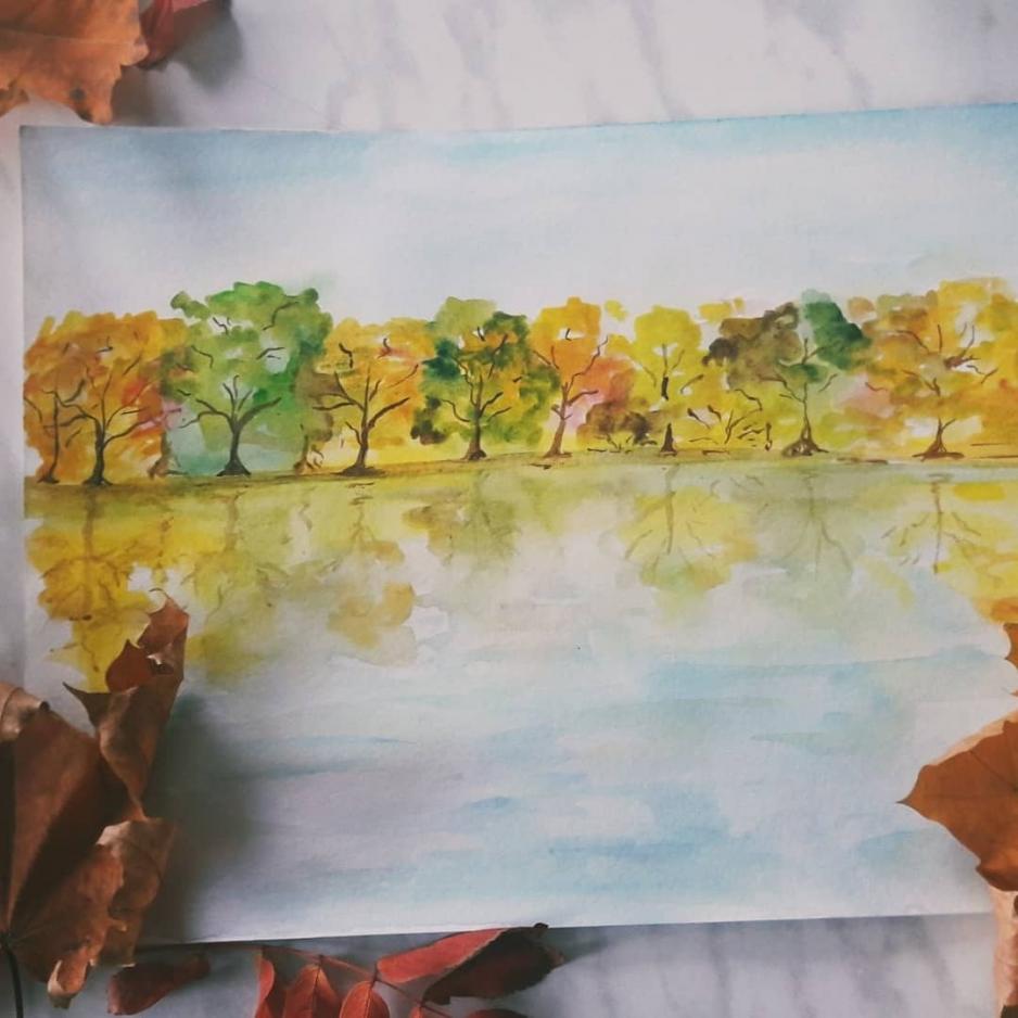 """Мастер класса по рисованию """"Акварельная осень"""" состоится 19 октября (суббота)."""