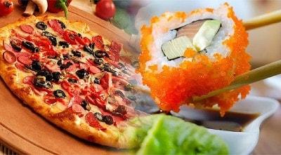 Заказать пиццу и суши в одном месте с бесплатной доставкой в Череповце