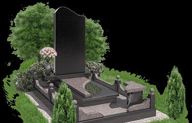 Памятники на кладбище из Карельского гранита и мрамора в Череповце