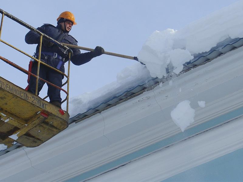 уборка снега с крыш