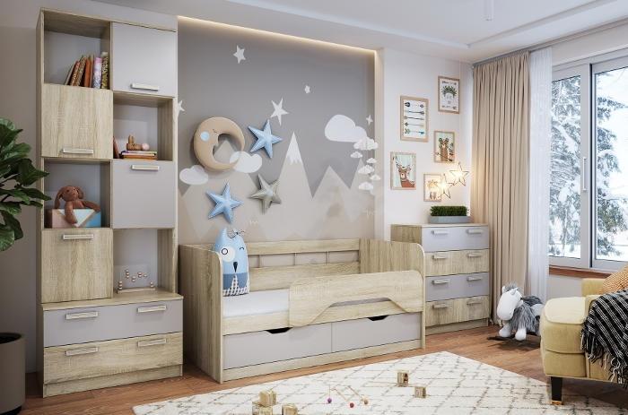 Модульная мебель в детскую Акварель
