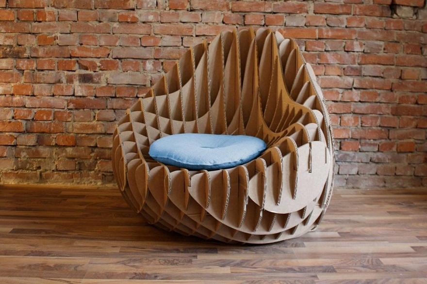 Мебель кресло из гофрокартона