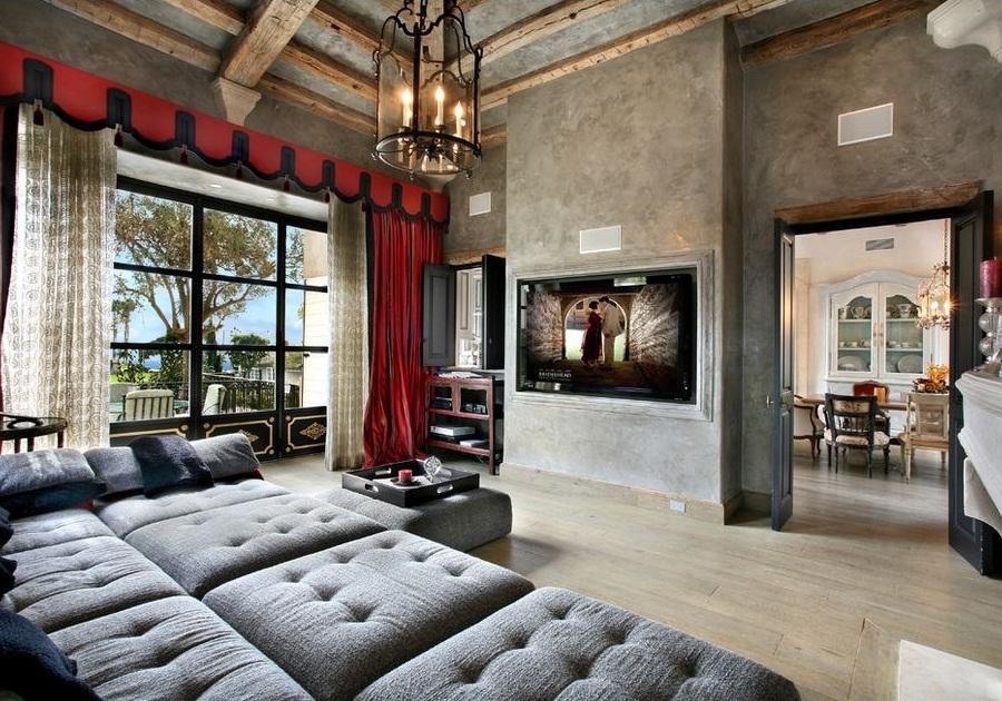 Готический стиль в гостиной