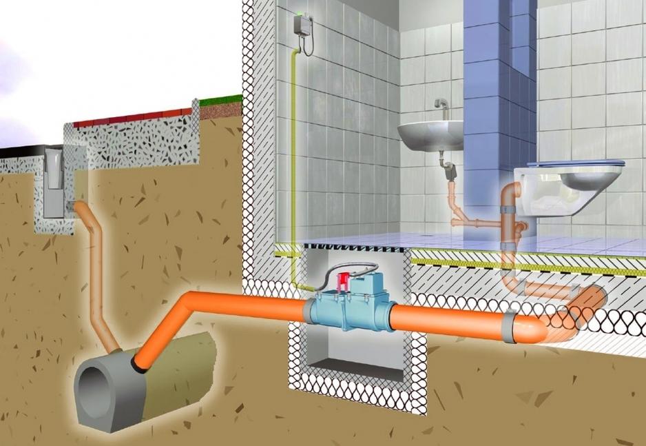 монтаж канализации частных домов