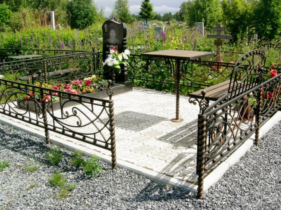 ограды на могильный участок